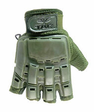 Valken V-Tac Half Finger Hard Back Paintball / Airsoft Gloves Olive Xl/Xxl