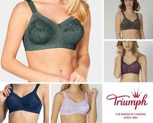 Triumph Doreen Full Cup Non Wire Bra Green, Deep Blue, Pearl Lilac, Brandy, Grey