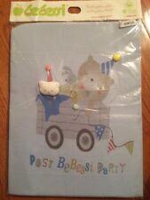 Baby Boy Blanket Throws Unisex Nursery Bedding 100% Natural Turkey Blue Party