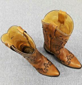 Frye Women's Size 7 B Brown Billy Firebird Overlay Western Boots