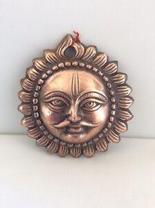 Sun Copper Tone Metal Ornament Wall Hanging New