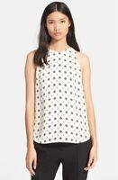 * NWT A.L.C. 'Anise' Print Silk Top NWT sz 10 White $345