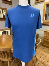 Under Armour Heatgear Fitted Blue T-shirt Size Medium
