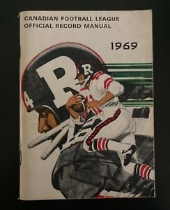 Vintage 1969 CFL Media Guide -  Official Record Manual