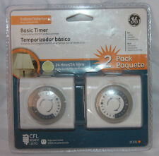 2 Pack GE Basic Timer Interior 24hr Daily Cycle Part # 15131