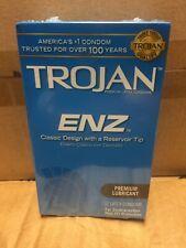 TROJAN Enz Lubricated Latex Condoms 12 Each Exp 05/2021
