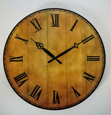 new unique stylish retro large wood wall clock 38 cm vintage european decoration
