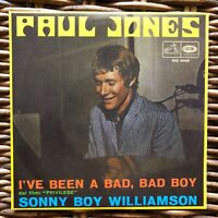 "PAUL JONES I've been a bad, bad boy promo 7"" 45 giri vinyl Red Ronnie"