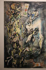 Rolando Hettner   Encre Et Gouache Sur Papier Grand Format   Eleve De Otto Dix