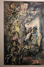 Rolando Hettner - Encre et gouache sur papier grand format - élève de Otto Dix