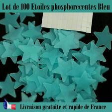Décoration étoiles phosphorecentes chambre d'enfant bleu brille dans le noir