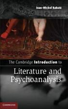 The Cambridge Introduction To Literature And Psychoanalysis (cambridge Introd...