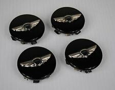 "4X New Genesis Wheel Center Hub Caps Black 18"" 19"" Wheel"