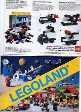 LEGO    CATALOGO  LEGOLAND   1981   NOTICE / INSTRUCTIONS BOOKLET / BAUANLEITUNG