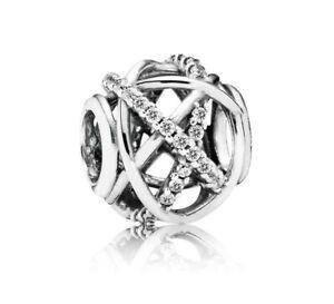 Authentic Pandora Galaxy, Clear CZ .925 Silver Charm - 791388CZ - NEW