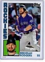Brendan Rodgers 2019 Topps Update 1984 Topps 5x7 #84-36 /49 Rockies