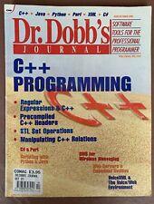 Dr. Dobb's Journal #329 Oct. 2001 'C++ Programming'
