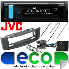 Renault Scenic 97-03 JVC CD MP3 RDS USB Aux Car Stereo & GREY Fascia Fitting Kit
