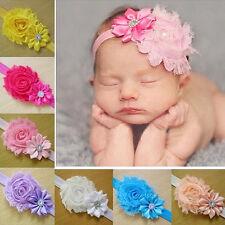 Bandeau Serre-tête Cheveux Fleur Turban Dentelle Elégant Pour Bébé Enfant Cadeau