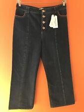 NWT$570 Sonia Rykiel  Dark Denim Cropped Jeans SZ 44