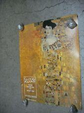 Gustav Klimt vintage Poster adele painting lady in gold promo Of book C1974
