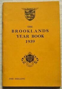 THE BROOKLANDS YEAR BOOK 1939 BARC Motor Sport Racing