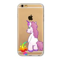 iPhone 6/6s Dibujos carcasa gel silicona Rosa Disney Unicornio Colores 7 5
