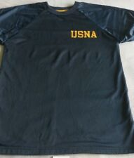UNITED STATES NAVAL ACADEMY REVESABLE WORKOUT SHIRT MEDIUM AUTHENTIC NAVAL ACAD.