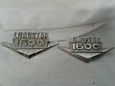 Vintage metal INTERNATIONAL LOADSTAR 1600 nameplates pair 2 lg truck emblem hood