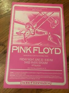 Pink Floyd Concert Pittsburgh Three Rivers Stadium 1975 Cardstock Concert Poster
