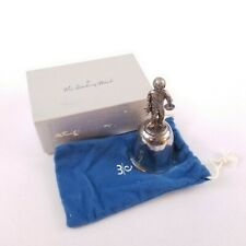 The Danbury Mint 1976 Silver Plated Christmas Child w/Candle Bell Original Box