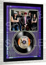 ACDC AC/DC High Voltage SIGNED FRAMED PHOTO PRINT Mini LP Perfect Gift #1