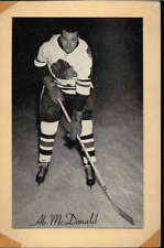 1944-63 BEEHIVE GROUP 2 PHOTOS   AB MCDONALD CHICAGO BLACK HAWKS VG F2526