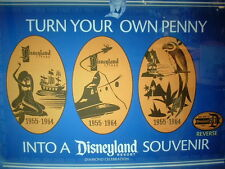 DISNEYLAND 60th 'RETIRED' PRESSED COPPER PENNY 3 PIECE DECADES SET FREE SHIP U.S