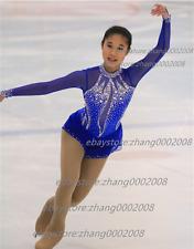 Ice skating dress.Blue Competition Figure Skating /Baton Twirling Costume