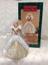 RETIRED NEW Barbie-Happy Holiday Barbie Stocking Hanger 1995 Mattel