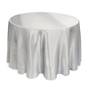 "5 PACKS 120"" inch Round SATIN Tablecloth WEDDING 25 COLOR 5' Ft table USA SALE"