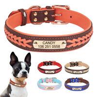 Collar de Cuero Personalizado para Cachorros con Nombre y Número de Teléfono Del