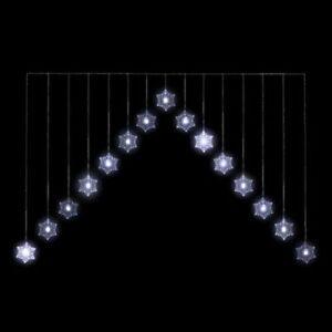 1.2m White LED Indoor Snowflake Christmas Curtain Light