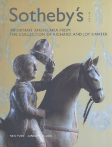 Sotheby's Catalogue Important Americana Collection of Richard and Joy Kanter