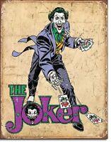 The Joker Superhero DC Comic Retro Disstressed Wall Decor Metal Tin Sign