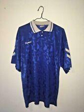 HUMMEL 1990's FOOTBALL SHIRT TEMPLATE SOCCER JERSEY BLUE XXL