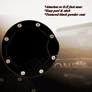 BLACK GAS DOOR COVER fit 2007-2013 CHEVROLET SILVERADO GMC SIERRA