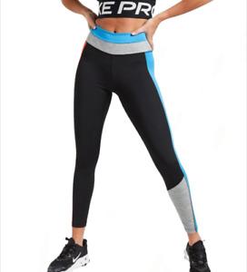 Nike Training One Women's High-Rise 7/8 Leggings Colour Block Black RRP £45