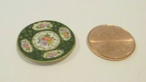CW HAND PAINTED DOLLHOUSE MINIATURE PLATE ON AVON CHINA