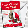 Tabby Cat Christmas Customised Card Personalized