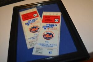 1986 World Series Game 6 Ticket Stub New York Mets Vs. Boston Red Sox Buckner 13