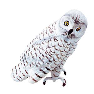 Dolls House Snowy Owl Miniature Outdoor Bird Animal Garden Accessory