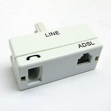 PHONE & ADSL BROADBAND FILTER ADAPTER SOCKET WHITE FOR BT & OTHER LINES
