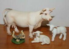 Schleich Farm Animals Charolais Cow Lamb Goslings
